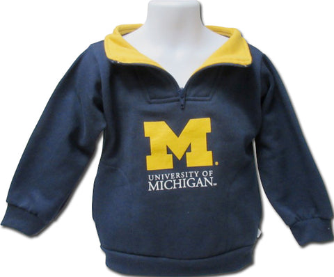 University of Michigan Toddler Zip Pullover Sweatshirt