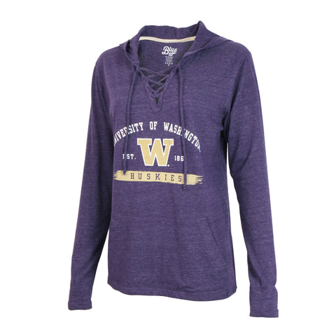 University of Washington Lace Up Sweater Hoodie