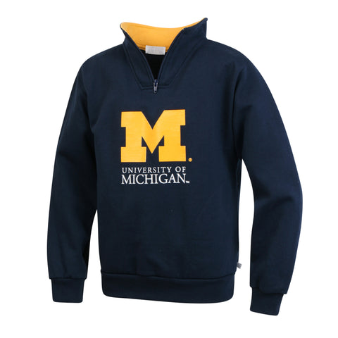 University of Michigan Boys Youth Zip Pullover Sweatshirt