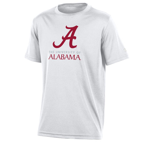 University of Alabama Youth Boys Tee Shirt, White