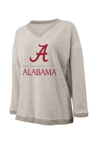 University of Alabama V Neck Woolly Threads Sweater