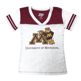 University of Minnesota Girls Youth Tee Shirt, Distressed