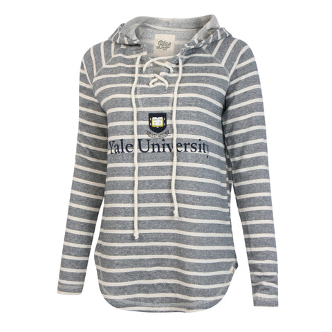 Yale University Lace Up Sweater Hoodie