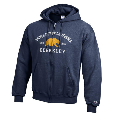University of California Berkeley Zip Hoodie, Bear
