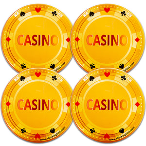 Casino Coasters (Set of 4)