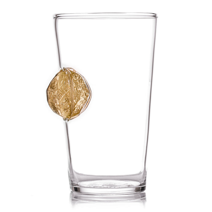 The Gold Doubloon Pint Glass
