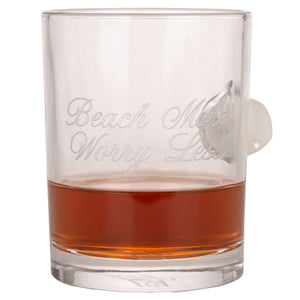 Day At The Beach Whiskey Glass