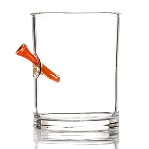 The Hole in One Whiskey Glass