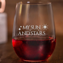 Moon of My Life & My Sun and Stars Wine Glass Set