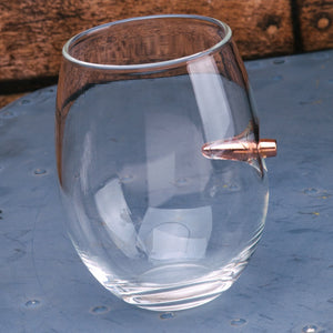 .308 Real Bullet Handmade Wine Glass