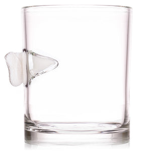The Shark Bite Whiskey Glass