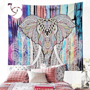 Elephant Decor Bohemian Tapestry