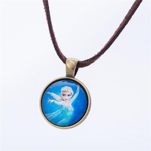 Cute Cartoon character Jewelry Glass Necklace Pendants Fashion