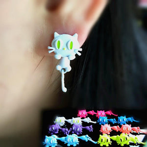 Fashion Small Cat Stud Earrings