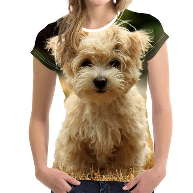 Woman 3D Dog T-shirt
