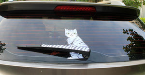 Funny Cat Moving Tail Stickers Reflective Car Window