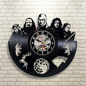 Vinyl Hanging Clock Game of Thrones HBO