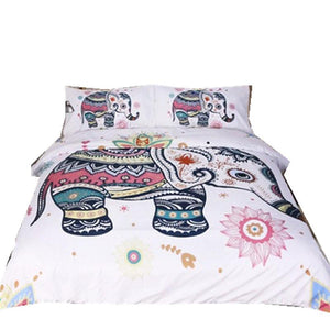 Elephant Bedding Bohemian Set  3pcs