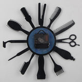 Vinyl Hanging Clock Barber Hair Art Decor Cool Design