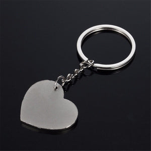 I Love you Silver Heart Keychain