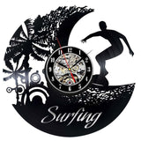 Vinyl Hanging Clock for Surfers