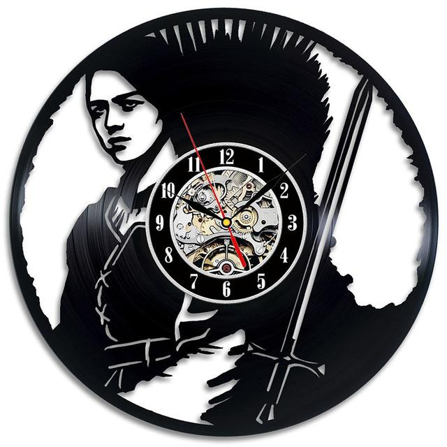 Vinyl Hanging Clock Game of Thrones