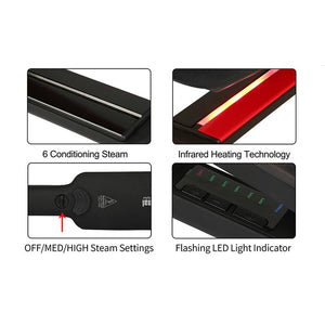 Professional Hair Straightener STEAM-INFRARED