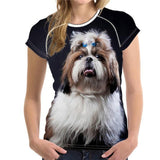 Women 3D Shih Tzu T-Shirt