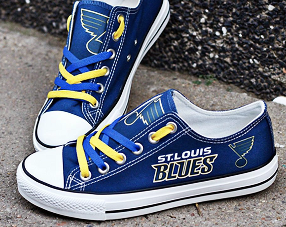 St. Louis Blues Canvas Shoes