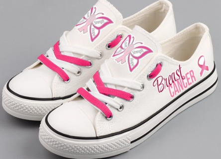 Breast Cancer Awareness Canvas Shoes
