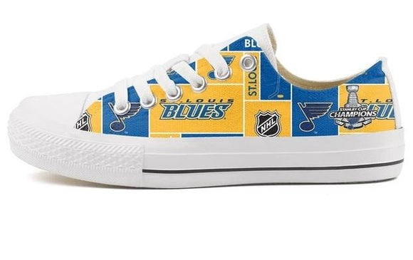 St. Louis Blues Full Print Canvas Shoes (8 Styles To Choose From)