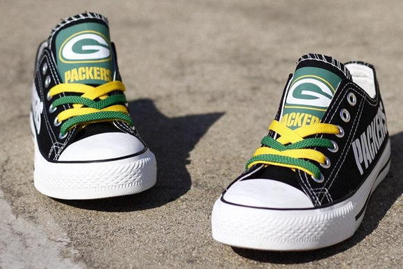 Green Bay Packers Canvas Shoes