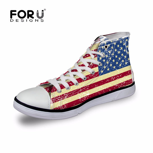 USA High Top Canvas Shoes