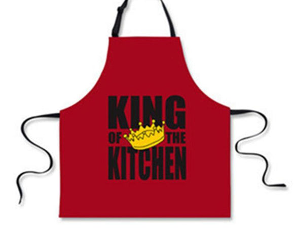 King of The Grill BBQ Funny Aprons for Men