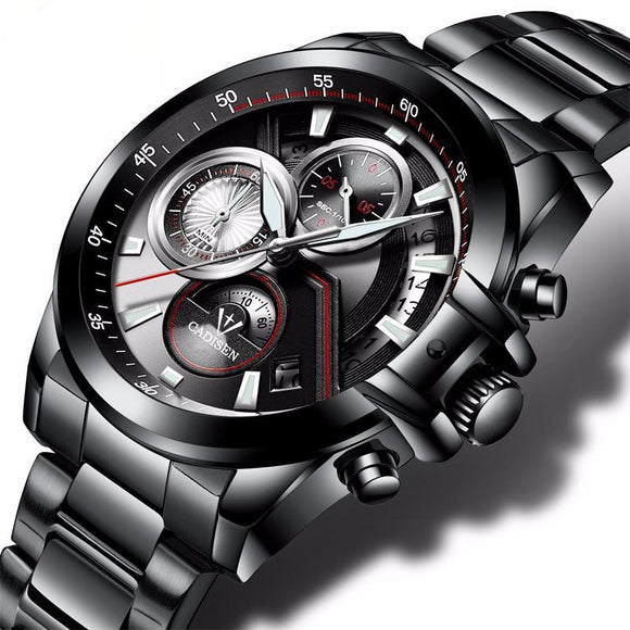 CADISEN Luxury Quartz Sport Wristwach