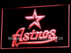 Houston Astros Neon Sign With On Off Switch - 7 Colors To Choose From!