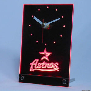 Houston Astros 3D LED Desk Clock - 5 Colors To choose From!