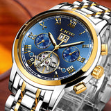 LIGE Men's Business Waterproof Mechanical Watch