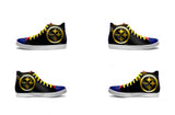 Pittsburgh Steelers Black Canvas Shoe