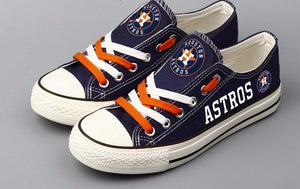 Houston Astros Blue Canvas Shoes (3 Styles To Choose From)