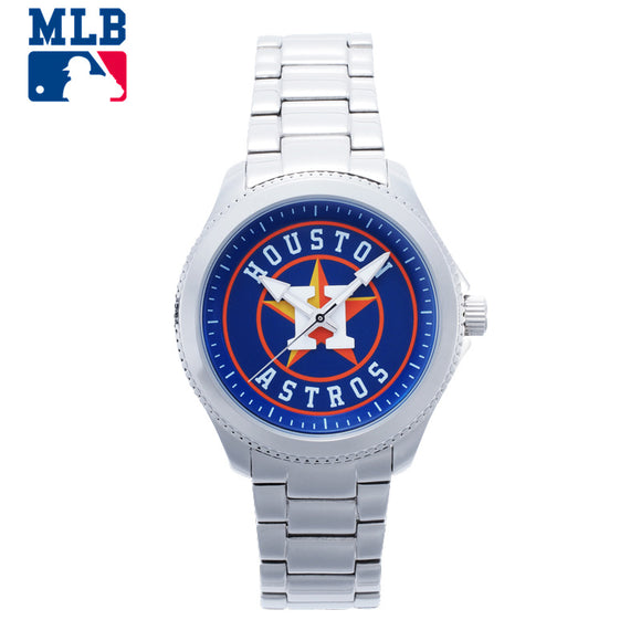 Houston Astros Stainless Steel Quartz Watch