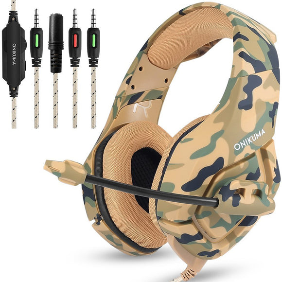 Camouflage PS4 High Bass Gaming Headphones