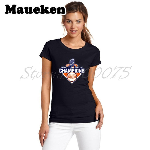 Women's 2017 Houston Astros Championship T-Shirt - 13 To Choose From