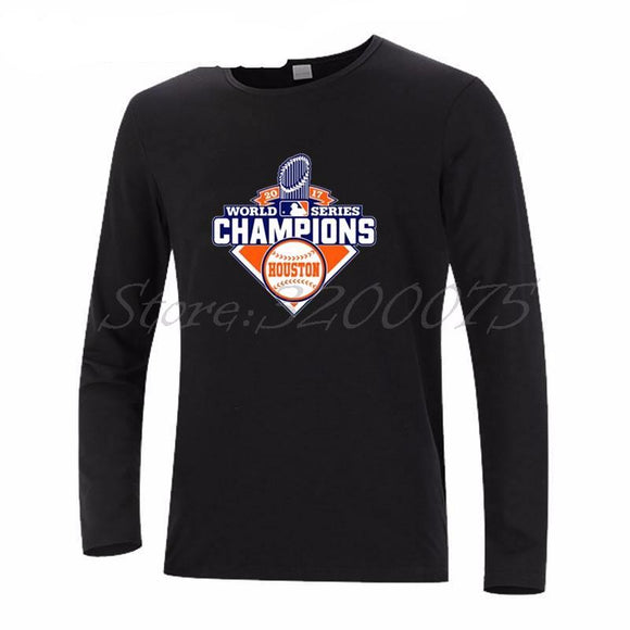 Men's Long Sleeve 2017 World Series Champions Houston Astros Shirt - 8 Colors To Choose From!
