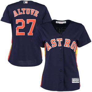Women's MLB Houston Astros Altuve Jersey - 2 Colors To Choose From