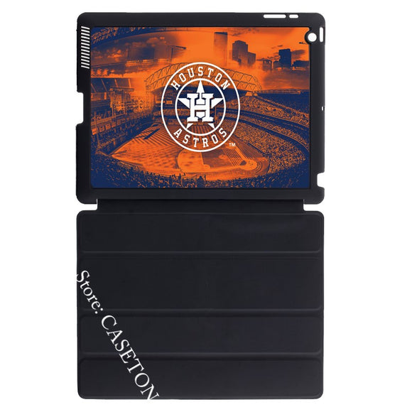 Houston Astros Baseball Lover Smart Cover Case For Apple iPad Mini 1 2 3 4 Air Pro 9.7