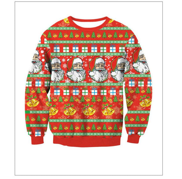 2017 Santa & Xmas Tree Ugly Christmas Sweaters For Men & Women