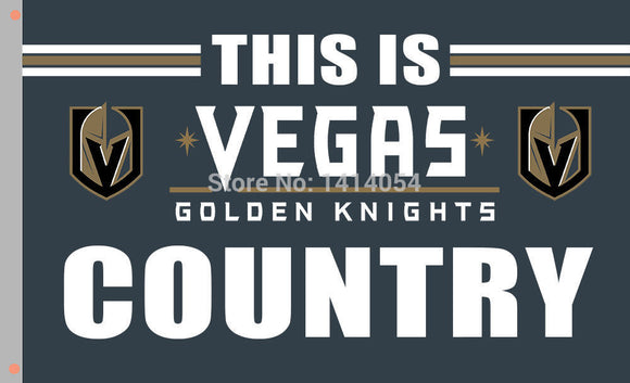 Vegas Golden Knights Country 3X5 Fan Flag