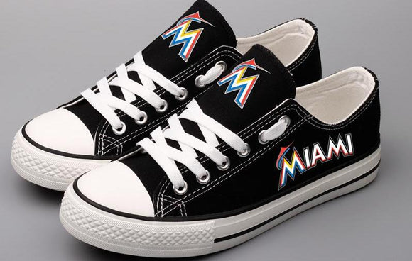 Miami Marlins Canvas Shoes