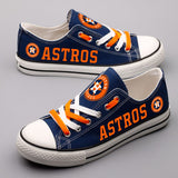 Houston Astros Canvas Shoes (6 Styles To Choose From)
